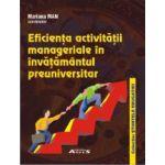 Eficiența activității manageriale în învățământul preuniversitar