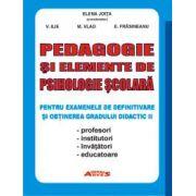Pedagogie și elemente de psihologie școlară